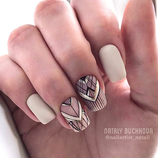 Patterned Prom Nails Art picture 3