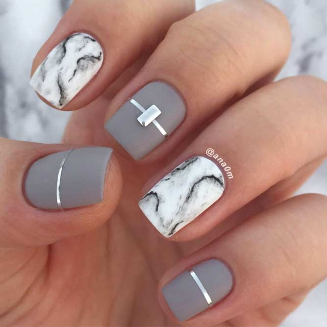 Marble Nail Designs for Prom picture5