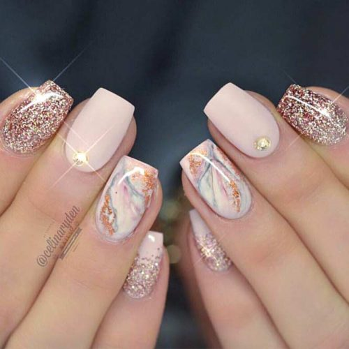 Marble Nail Designs for Prom picture2