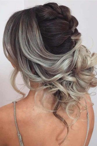 Ash Blonde Messy Updo #messyupdo #ombrehair