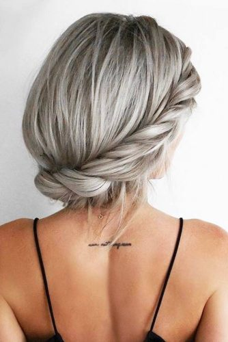 Trendy Updo Hairstyles for Beautiful Prom Look picture5