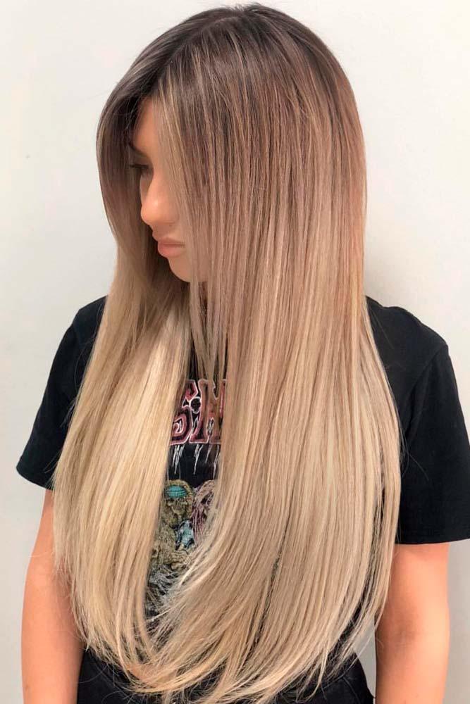Sandy Brown Onmbre For Long Straight Hair #straighthair #longhair