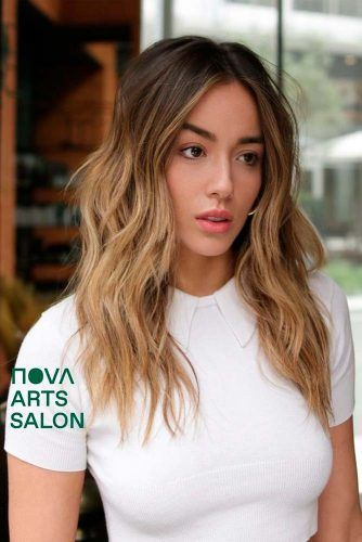 Layered Broen Ombre Hair #layeredhair #ombrehair