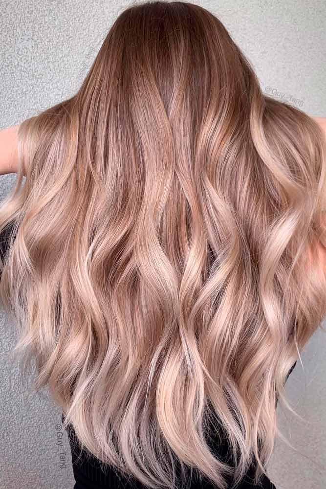 Soft Sandy Brown Ombre Hair #longhair #wavyhair