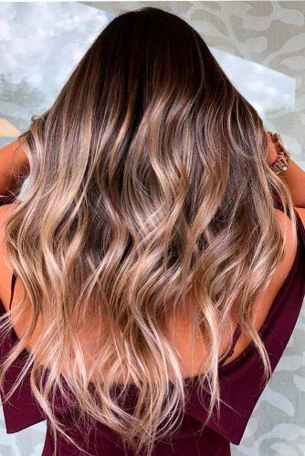 Chocolate Brown Hair With Blonde Highlights #hairhighligths #longhair