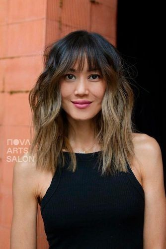 Shaggy Layered Ombre Hairstyles #ombrehair #layeredhair