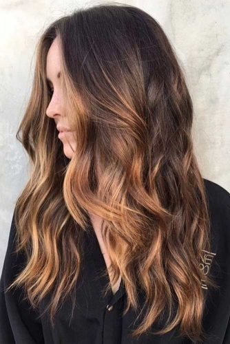 Caramel Ombre Hair Color for Brunettes picture 1