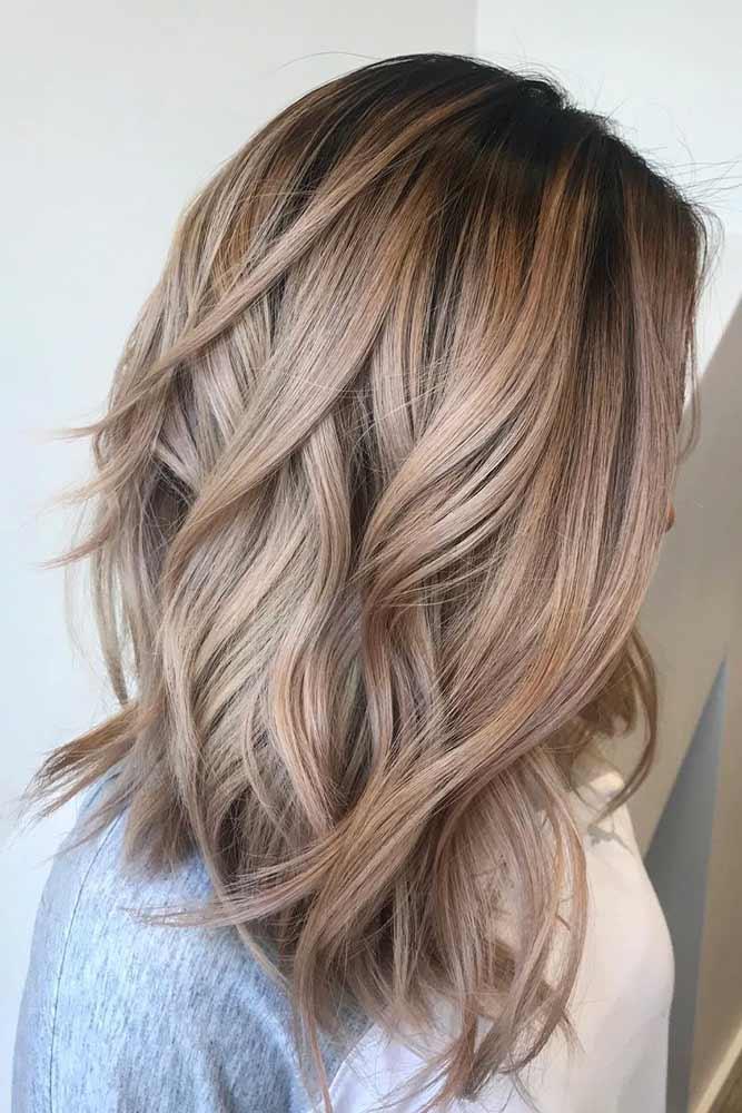 Asn Brown Hair Shade #layeredhairstykes #ashbrownhair
