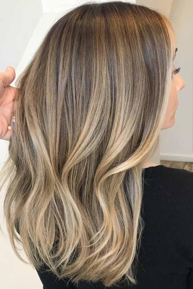 Light Brown Ombre Hair #lightbrowncolor #mediumhair
