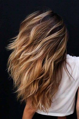 Long Brown Hair With Highlights #highlightshair #longhair