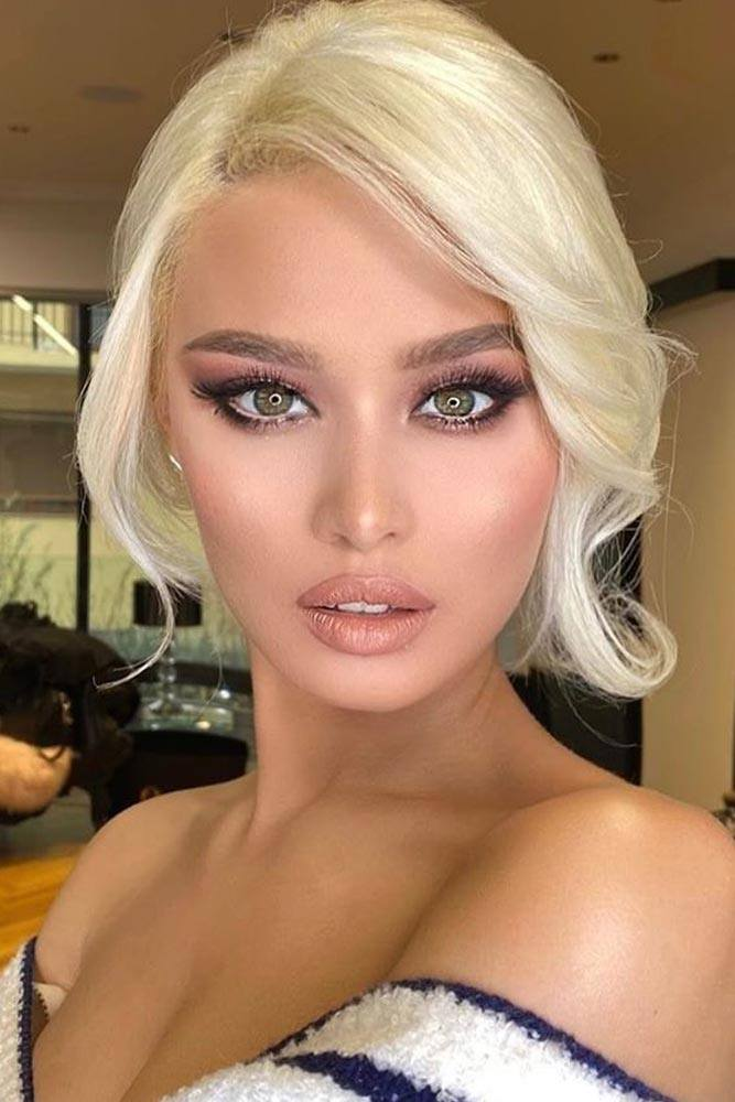 Sexy Cat Eyes Look With Nude Lipgloss #lipgloss