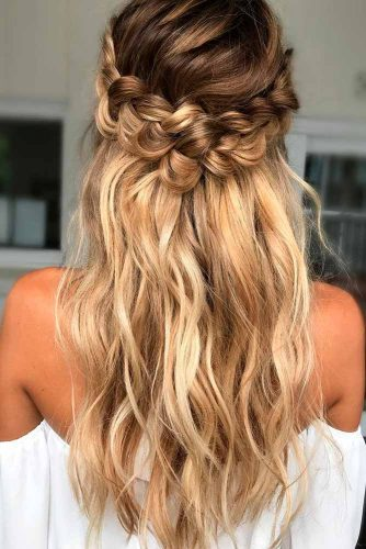 Braided Crown Prom Hairstyles For Long Hair picture 2