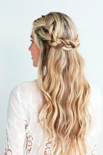 Braided Crown Prom Hairstyles For Long Hair picture 1