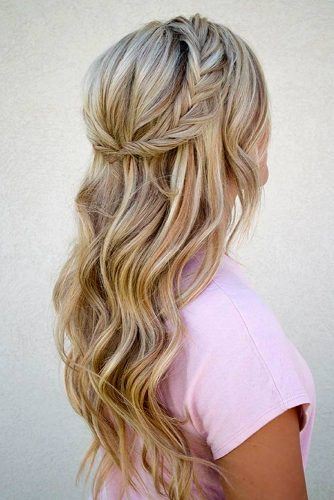 Braided Crown Prom Hairstyles For Long Hair picture 3