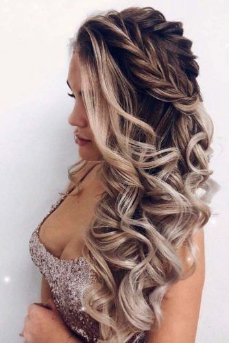 Braided Half-Up Hairstyle #braidedhairstyle #halfuphairstyle