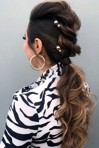 Braided Low Ponytail #braidedhairstyles #ponytails