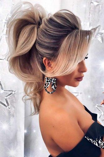 Puffed Ponytail Hairstyles #puffedhair #blondehair