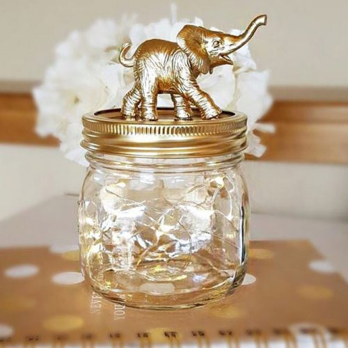 Elephant Nightlight Mason Jar Gift #nightlight