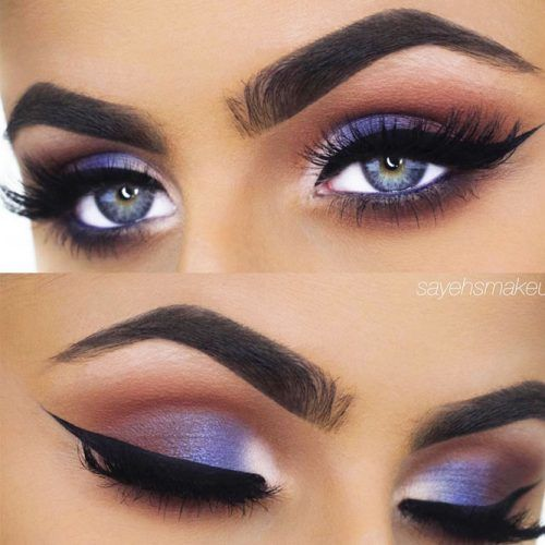 Blue Shimmer Smokey Eyes Makeup #shimmersmokey