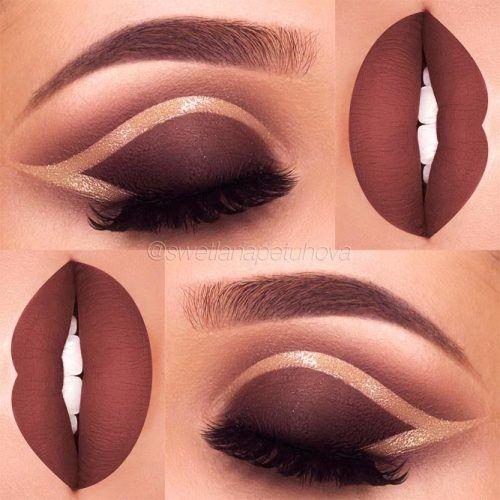 Matte Brown Smokey With Matte Lips #matteshadow #glossyline