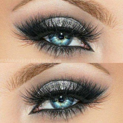 Gray Shimmer Smokey Eyes Prom Makeup #smokeyeyes