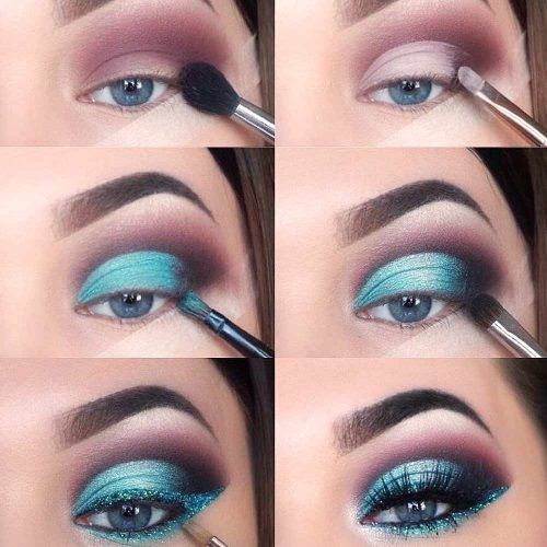 Blue Smokey Makeup Tutorial #bluesmokey