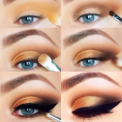 Gold Cut Crease Makeup Idea #cutcrease