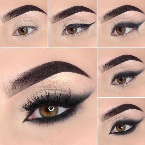 Bold Smudge Eyeliner With Eyeshadow #boldeyeliner