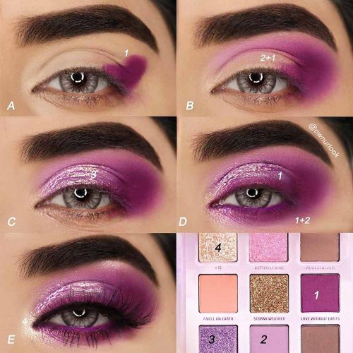 Purple Smokey Eyes Tutorial #purplesmokey