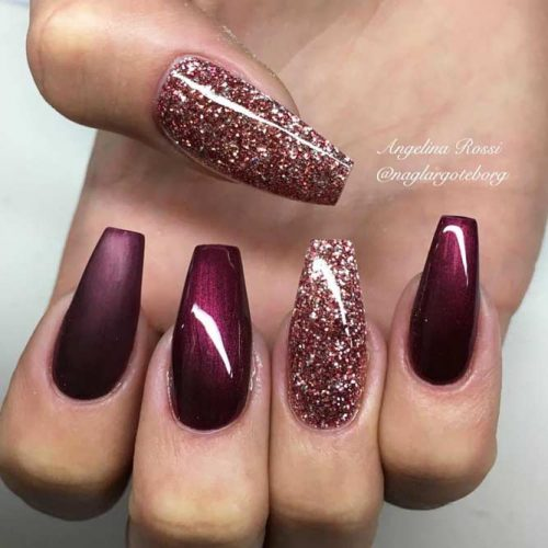Glitter Accents For Graduation Nails To Inspire You picture3