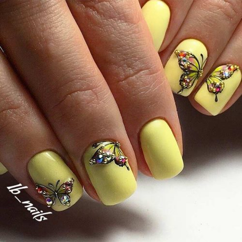 Nature Inspired Graduation Nail Arts picture6