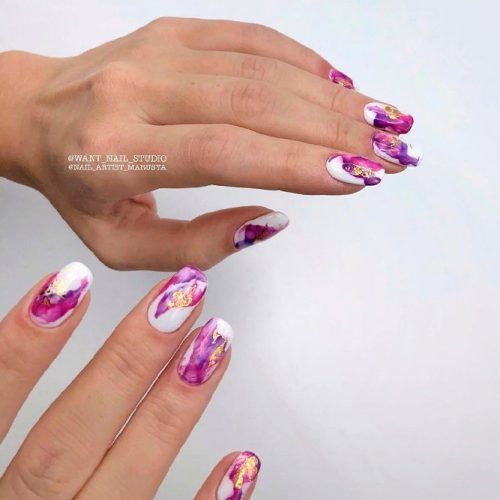 Purple Gaze Abstracted Nai Art #purplenails #abstractednails