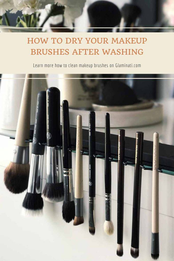 How to Dry Your Makeup Brushes After Washing #dryingmakeupbrushes