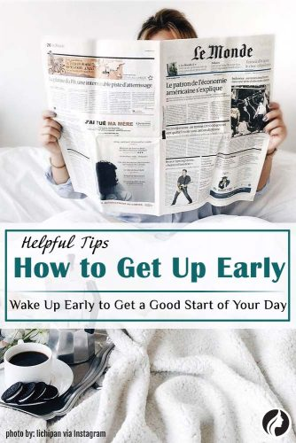 Wake Up Early to Get a Good Start
