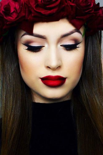 Ombre Lips with Red Lipstick picture 1