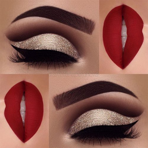 Cute Red Lipstick Makeup Ideas picture 3