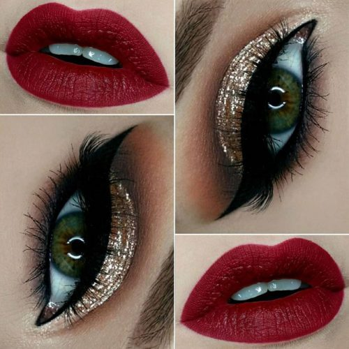 Cute Red Lipstick Makeup Ideas picture 6