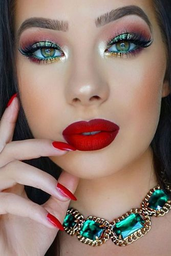 Best Makeup Ideas with Red Lipstick picture 5