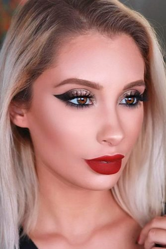 Best Makeup Ideas with Red Lipstick picture 6