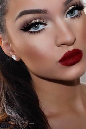 Dark Red Lipstick Makeup Ideas picture 3