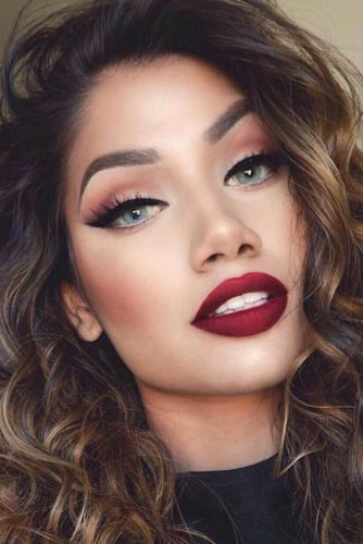Ombre Lips with Red Lipstick picture 4
