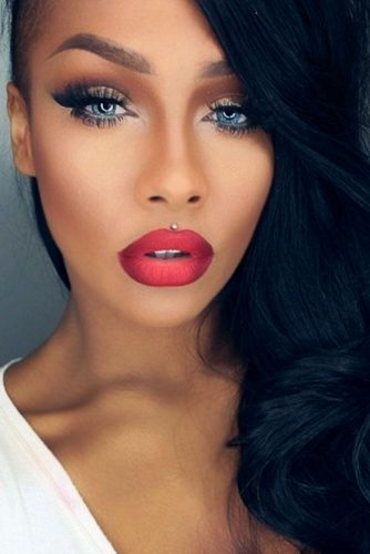 Ombre Lips with Red Lipstick picture 5