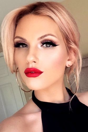 Vivid Lips with Red Lipstick picture 3