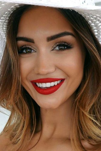 Vivid Lips with Red Lipstick picture 2