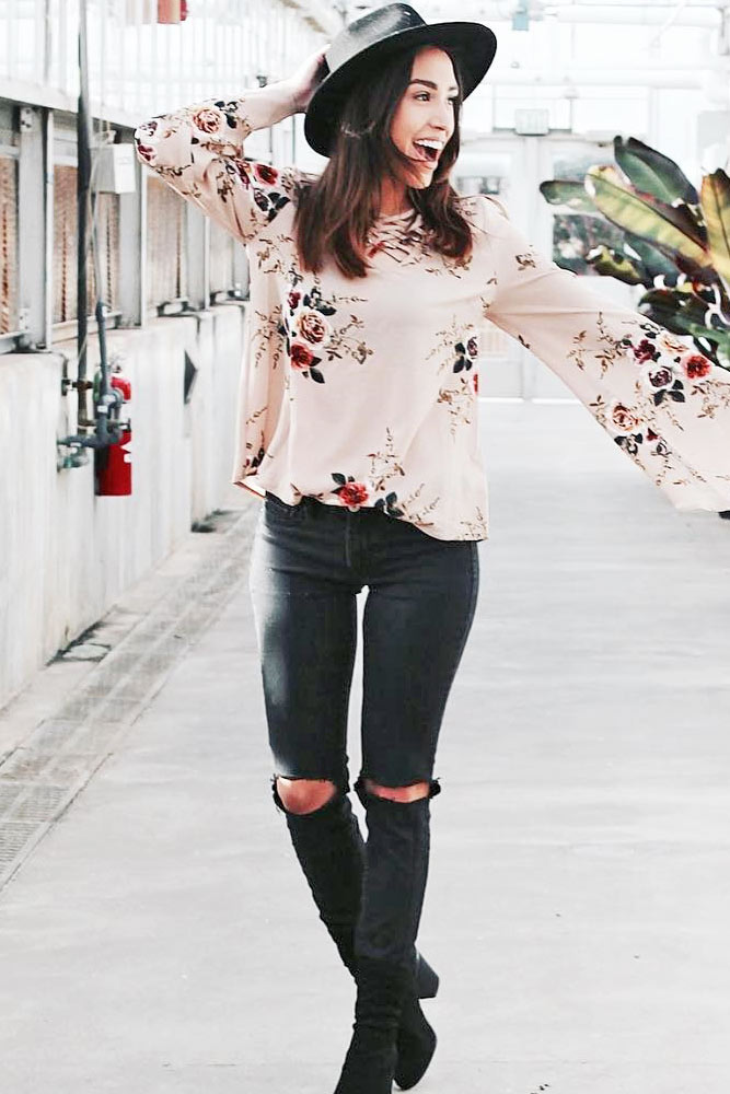 Dark Ripped Jeans for Women picture 5