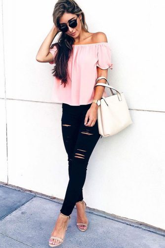 Dark Ripped Jeans for Women picture 6