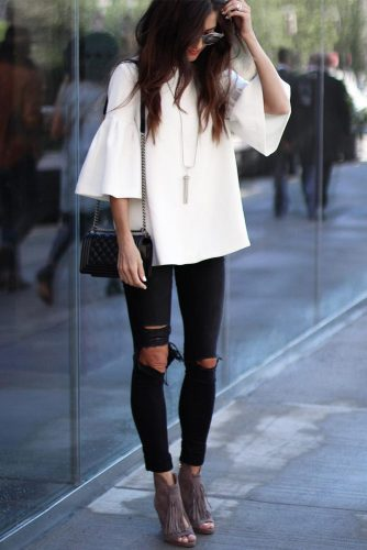 Dark Ripped Jeans for Women picture 1