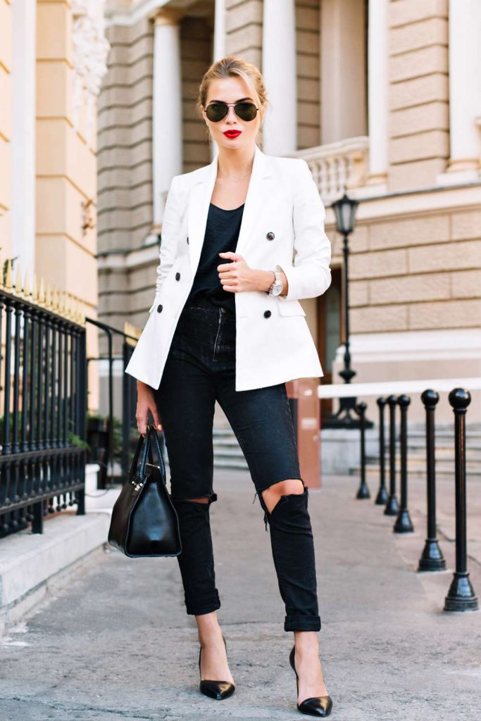 Casual Look with Ripped Jeans