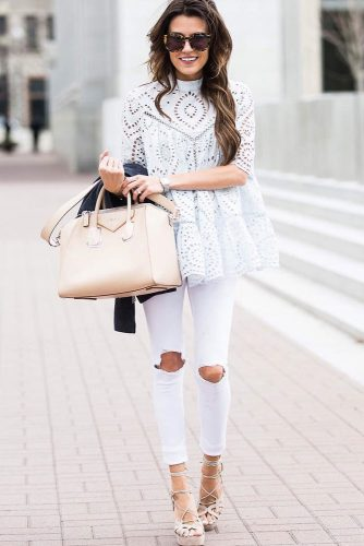 All White Outfits with Skinny Jeans picture 4
