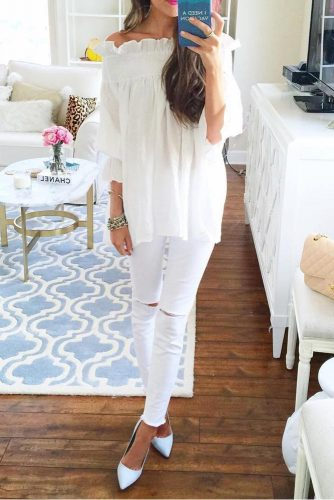 All White Outfits with Skinny Jeans picture 3